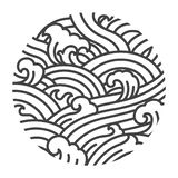 Illustrerar orientalisk stil f royaltyfri illustrationer