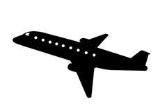 illustrerat flygplan Arkivbild