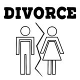 Illustrstion del vector de pares divorciados libre illustration