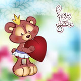 Illustrte vector of cute Teddy bear in a tutu and Royalty Free Stock Image