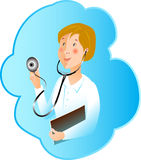 Illustrtion της νοσοκόμας ιατρικής επαγγέλματος Στοκ εικόνα με δικαίωμα ελεύθερης χρήσης