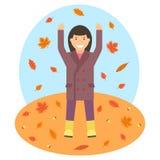 Illustrtion del tema del otoño ilustración del vector
