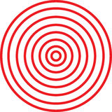 Illution Circles. Illustrationo of red illution circles Stock Images