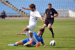 Illychivets player makes a tackle Stock Image