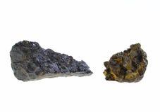 Ilmenite. Origin: Italy. Precious Stones Collection, studio isolated photo Stock Images