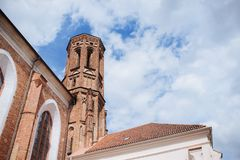 ilnius, Lithuania. red brick gothic St. Anne`s church. stock photography