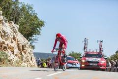 Ilnur Zakarin, Individual Time Trial - Tour de France 2016. Col du Serre de Tourre,France - July 15,2016: The Russian cyclist Ilnur Zakarin of Katusha Team Royalty Free Stock Photography