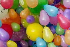 Barwione lotnicze piłki zdjęcie royalty free
