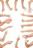Ilość gesty Obraz Stock