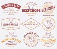 Ilości wołowiny mięso barwiący Zdjęcia Stock
