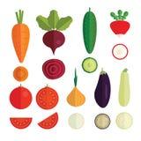 Ilości warzyw ikony Obrazy Stock