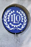 ILO sign on a wall Stock Image