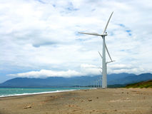 Ilocos Windmills stock images