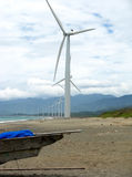 Ilocos Windmills Stock Photo