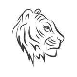 Ilogo значка тигра solated на белом животном eps 10 предпосылки Стоковые Фотографии RF