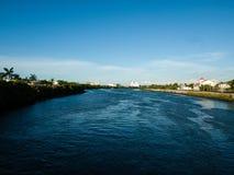Iloilo Filippinernaflod royaltyfri bild