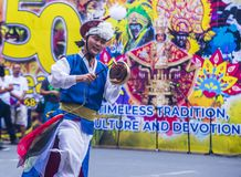 2018 Dinagyang Festival. ILOILO , PHILIPPINES - JAN 28 : Korean dancers in the Dinagyang Festival in Iloilo Philippines on January 28 2018. The Dinagyang is Stock Photo