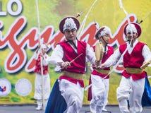2018 Dinagyang Festival. ILOILO , PHILIPPINES - JAN 28 : Korean dancers in the Dinagyang Festival in Iloilo Philippines on January 28 2018. The Dinagyang is Stock Photography