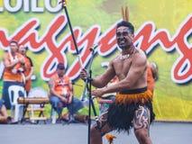 2018 Dinagyang Festival. ILOILO , PHILIPPINES - JAN 28 : Maori dancers in the Dinagyang Festival in Iloilo Philippines on January 28 2018. The Dinagyang is Stock Images
