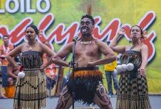 2018 Dinagyang Festival. ILOILO , PHILIPPINES - JAN 28 : Maori dancers in the Dinagyang Festival in Iloilo Philippines on January 28 2018. The Dinagyang is Royalty Free Stock Photography