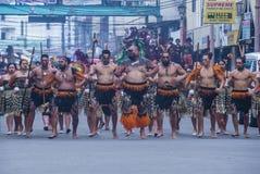 2018 Dinagyang Festival. ILOILO , PHILIPPINES - JAN 28 : Maori dancers in the Dinagyang Festival in Iloilo Philippines on January 28 2018. The Dinagyang is Royalty Free Stock Image