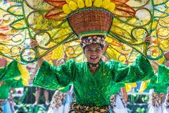 2018 Dinagyang Festival. ILOILO , PHILIPPINES - JAN 28 : Participant in the Dinagyang Festival in Iloilo Philippines on January 28 2018. The Dinagyang is Stock Photo