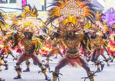 2018 Dinagyang Festival. ILOILO , PHILIPPINES - JAN 28 : Participants in the Dinagyang Festival in Iloilo Philippines on January 28 2018. The Dinagyang is Royalty Free Stock Photo