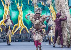 2018 Dinagyang Festival. ILOILO , PHILIPPINES - JAN 28 : Participants in the Dinagyang Festival in Iloilo Philippines on January 28 2018. The Dinagyang is Royalty Free Stock Photography
