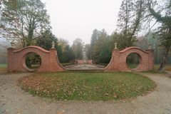 Ilowa, Manor Park In The Fall. Stock Photography