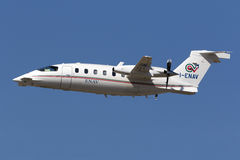ILS calibrator aircraft Royalty Free Stock Image
