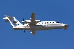 ILS calibrator aircraft Stock Image