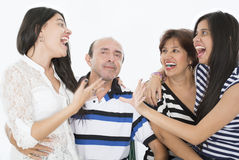 Ils sont une famille heureuse Photos libres de droits