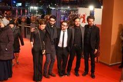 Ilse Salas, Alonso Ruizpalacios, Bernardo Velasco en Leonardo Ortizgris royalty-vrije stock foto