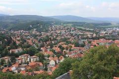 Ilsenburg en omgeving Stock Foto