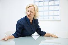 ilsken affärskvinna Royaltyfri Fotografi