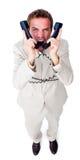 ilsken affärsmantelefontangle upp trådar Fotografering för Bildbyråer