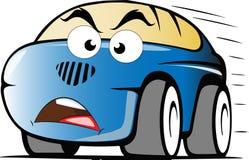 Ilsken bil för blåtthastighetstecknad film vektor illustrationer