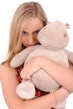 ilsken blond kvinna Fotografering för Bildbyråer