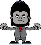 Ilsken Businessperson Gorilla för tecknad film royaltyfri illustrationer