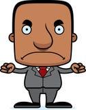Ilsken Businessperson Man för tecknad film vektor illustrationer