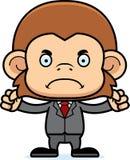 Ilsken Businessperson Monkey för tecknad film vektor illustrationer