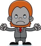 Ilsken Businessperson Orangutan för tecknad film vektor illustrationer