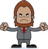 Ilsken Businessperson Sasquatch för tecknad film royaltyfri illustrationer
