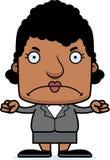 Ilsken Businessperson Woman för tecknad film vektor illustrationer