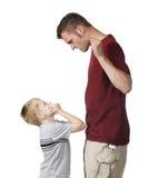 ilsken förälder Arkivfoton