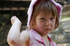 ilsken flicka Fotografering för Bildbyråer