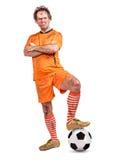 Ilsken fotbollsspelare Arkivfoto