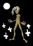 ilsken halloween zombie Arkivbilder