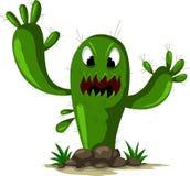 Ilsken kaktus Arkivfoton