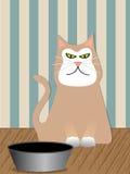 ilsken kattvektor stock illustrationer